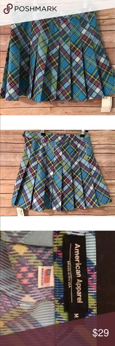 "American Apparel Plaid Pleated Tennis Skirt Super Cute American Apparel Plaid Tennis Skirt 16"" long  Happy Shopping! American Apparel Skirts Mini"