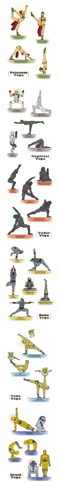 Star Wars Yoga by Rob Osborne - are you kidding me?  Mixing my two favorites!  Ahhhh I just died!  ;)