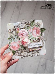 Handmade Friendship Card Friend 3D greeting card by MaremiSmallArt
