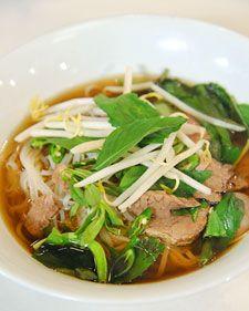 Martha Stewart's Vietnamese Pho recipe. Must try... When it's not 300 degrees outside.