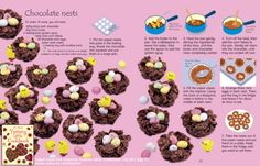Delicious #chocolate nests from the Usborne Yummy Little Cookbook   #usborne #recipe #free #activity #cooking #Easter #bake #children #book
