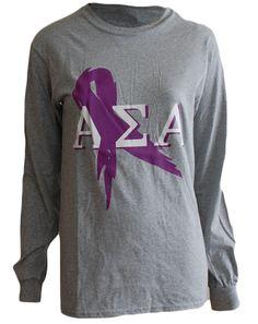 Alpha Sigma Alpha Relay for Life Longsleeve by Adam Block Design | Custom Greek Apparel & Sorority Clothes | www.adamblockdesign.com