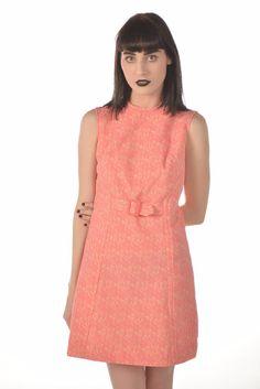 Amelia 70s Pink Floral Novelty Knit Dress