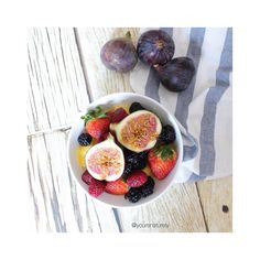 Sunday lazy fruit bowl consisting of pineapples, strawberries, raspberries, blackberries and figs