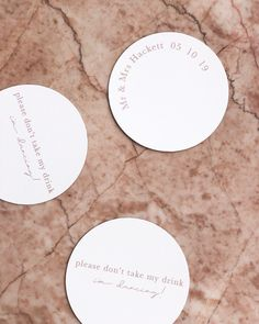 Coasters - Wedding - Bride - Bridal - Event - Decor - Cocktails - Drinks - Graphic Design - Photography - Design - Groom - Dance - Stationery Cocktails, Cocktail Drinks, Wedding Coasters, Wedding Stationary, Event Decor, Wedding Bride, Groom, Wedding Decorations, Stationery