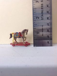DOLLHOUSE MINIATURES HORSE PULL TOY HAND PAINTED & DRESSED JEFF STEEL in Dolls & Bears, Dollhouse Miniatures, Artist Offerings | eBay