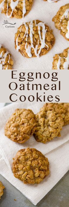 Eggnog Oatmeal Cookies – chewy centers with crispy edges in a perfect festive cookie with eggnog flavor inside the cookie as well as in the icing! These are a great festive treat that the whole family will love, and Santa may even leave you extra presents under the tree! Oatmeal Cookies, Oatmeal Cookie Recipes, Healthy Snacks, Healthy Eating, Winter Food, Weeknight Meals, Polar Bear Paw, Whole Food Recipes, Sweet Tooth