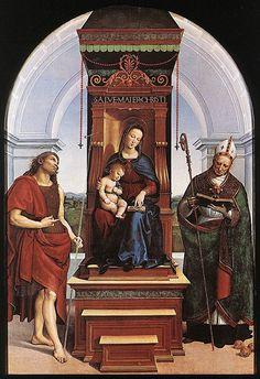 Raphael Ansidei - Madonna and Child with St Nicholas -1505