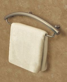 Towel Bar W/Grab Bar what a great idea. Accessible means user-friendly. Accessible doesn't mean ugly. #grabrail #seniorsliving