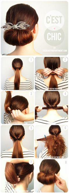 The Twist and Flip Bun via The Beauty Department