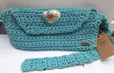 Crochet Handbags, Crochet Bags, Hip Bag, Summer Accessories, Turquoise Color, Belt Buckles, Handmade Items, My Etsy Shop, Crossbody Bag