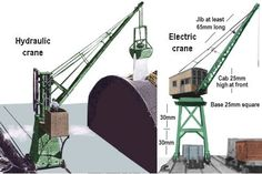 Sketch showing simple dock cranes