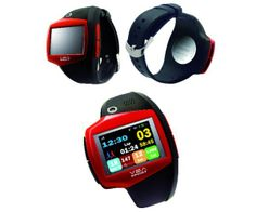 """VEA, a French company has come up with the VEA Sportive mobile watch that doubles up as watch and mobile phone. Simply wear this watch around your wrist while working out, to track your pace, pulse rate, distances covered and calories burnt. This mobile watch features a sporty 1.5"""" touchscreen, and has a built-in camera and MP3 player with 8GB memory as well."""