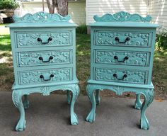 {createinspire}: Chippendale Night Stands in Covington Blue