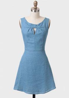 My Darling Swiss Dot Chambray Dress   Modern Vintage Dresses   Modern Vintage Clothing