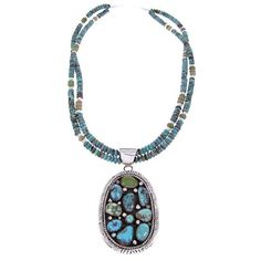 Native American Jewelry | Turquoise Jewelry | Turquoise Necklace... ($500) ❤ liked on Polyvore