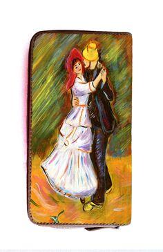 "Portafogli dipinto a mano -hand painted wallet - Dance at Bougival"" - ""Ballo a Bougival"" Renoir  - www.artelisanti.com  - #ArteLisanti #MadeinItaly #GenuineLeather #VeraPelle #wallets #portafogli #handpaintedwallets #portafoglidipintiamano #fashion #style #stylish #beautiful #pretty #girl #girls #design #model #shopping #glam #ThePaintingToWear"