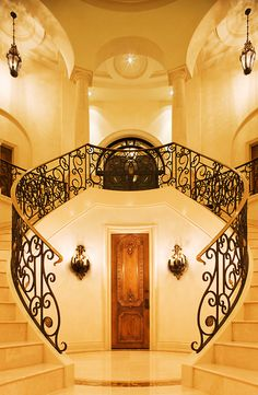 Art Deco, Black and White, Twin Staircase