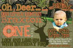 Camo/Huntting Birthday- FIrst Birthday, Camo Themed, Hunting Theme, Digital