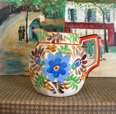 Beautiful Mexican pottery pitcher for display