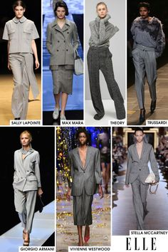 Excited to see the grey work wear trends that are evolving for Fall