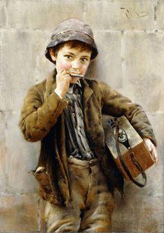 elvi deiggal - Google+Arte ... Música, armónica. Karl Witkowski. Pintor polaco. (Yarlovets, Ucrania, Polonia 16.7.1860/17 5.1910 Buchach, Ucrania, Polonia).