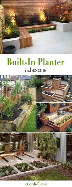 Built-In Planter Ideas • Projects, Ideas and Inspiration! #planters #gardenplanters #diygardenplanters #diy #builtinplanters #diybuiltinplanters Modern Backyard Design, Small Backyard Patio, Backyard Patio Designs, Diy Patio, Front Yard Landscaping, Garden Design, Modern Design, Landscaping Ideas, Backyard Privacy