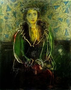 Pablo Picasso, Portrait of Dora Maar with a Crown of Flowers on ArtStack #pablo-picasso #art