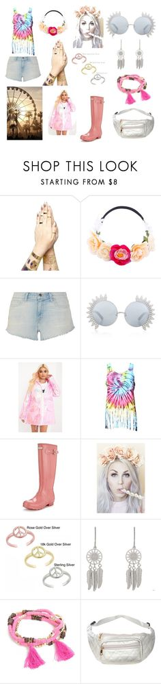 """""""Festival in the Pink"""" by ails-1 on Polyvore featuring L'Agence, Linda Farrow, Hunter, Lulu in the Sky, Mondevio, Accessorize, New Directions, Pilot and longhotsummer"""