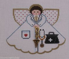 Painted Pony Designs Doctor Angel 996BM Hand Painted Needlepoint Canvas