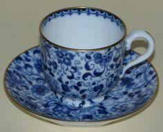c.1900 Copeland Spode Miniature Chintz Cup & Saucer