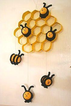 Поделка пчелиные соты - Поделки с детьми   Деткиподелки