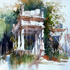 "✨ Imagine a place where watercolor artists sketch on nearly every street corner, and all the buildings display works in watercolor from around the world. Well, it's a real thing. ✨ Learn more about this international meeting place for watercolor lovers around the world. Pictured here: ""Still Standing – Havana"" by Thomas W Schaller Landscape Drawings, Watercolor Landscape, Landscape Paintings, Watercolor Paintings, Watercolors, Watercolor Artists, Pastel Paintings, Watercolor Sketch, Landscapes"