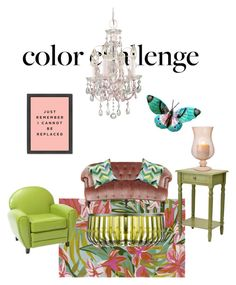 """Green&blush home"" by subvilli ❤ liked on Polyvore featuring interior, interiors, interior design, home, home decor, interior decorating, Surya, Kartell, Noble House and Old Hickory Tannery"