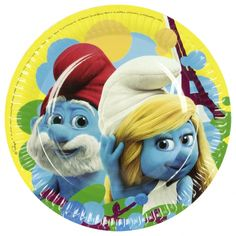 Šmolkovia 2 party - Smurfs 2 party Paper Plates, Smurfs, Decorative Plates, Material, Products, Dishes, Cardboard Paper, Gadget