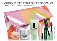 Clinique GWP at Bergdorf Goodman in January 2016. Only on their website. Free shipping + and extra gift. http://clinique-bonus.com/other-us-stores/