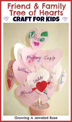 This Friend and Family Tree of Hearts Craft is a simple way for little ones to express their love!