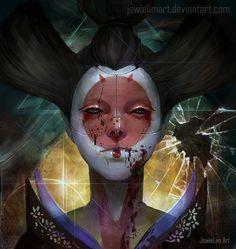 Geisha Bot: Ghost in the Shell by JowieLimArt.deviantart.com on @DeviantArt