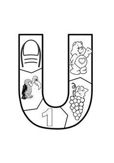 VOGAL U                                                       … Preschool Spanish, Disney Christmas Decorations, Letter Activities, Learning The Alphabet, 4 Kids, Pre School, Phonics, Language Arts, Album