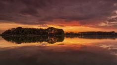Sunset over the Dead-Danube