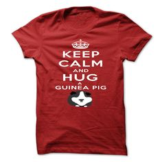 KEEP CALM AND CUDDLE YOUR GUINEA PIG UNISEX T-SHIRT NEW