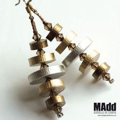 MAdd Gioielli di carta / MAdd Paper jewels: FLAT EARRINGS / ORECCHINI LISCI