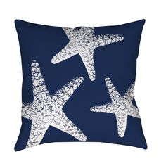 Use this sweet starfish pillow to bring a nautical vibe to indoor or outdoor spaces. This soft, comfortable pillow is sized just right for napping and is a made from soft material for added comfort.