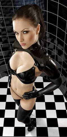 latex girls, latex catsuits girls from  latex blog.