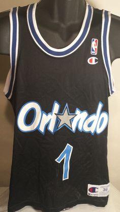 Vintage Orlando Magic Penny Hardaway Mens Size 36 Champion Basketball Jersey #Champion #OrlandoMagic