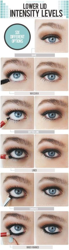 Different lower lashes looks