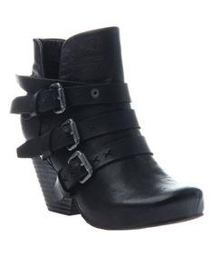 Look at this #zulilyfind! Black Lasso Leather Bootie - Women #zulilyfinds