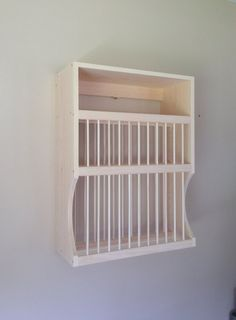 Wall Mounted Plate Rack For extra large by NicoletWoodProducts ...