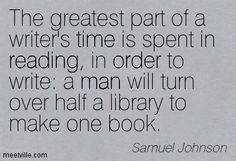 Samuel Johnson quote on reading.
