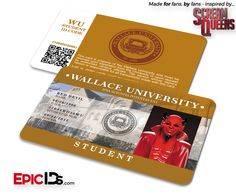 """Scream Queens Inspired """"Red Devil"""" Wallace University Student ID"""